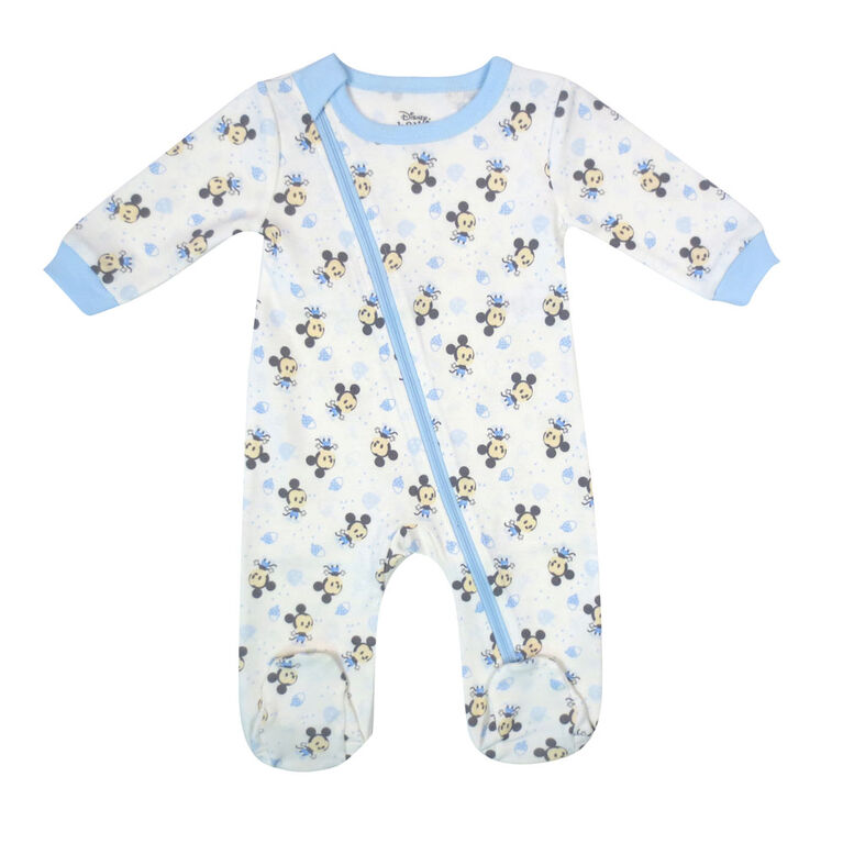 Disney Mickey Mouse 1-Piece Sleeper - Blue, 9 Months