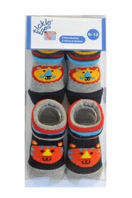 Tickle-toes 2-Pack Socks, 0-12 Months