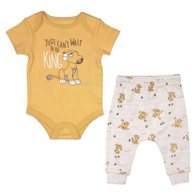 Disney Lion King Cache couches et pantalon - naturel, 9 mois.