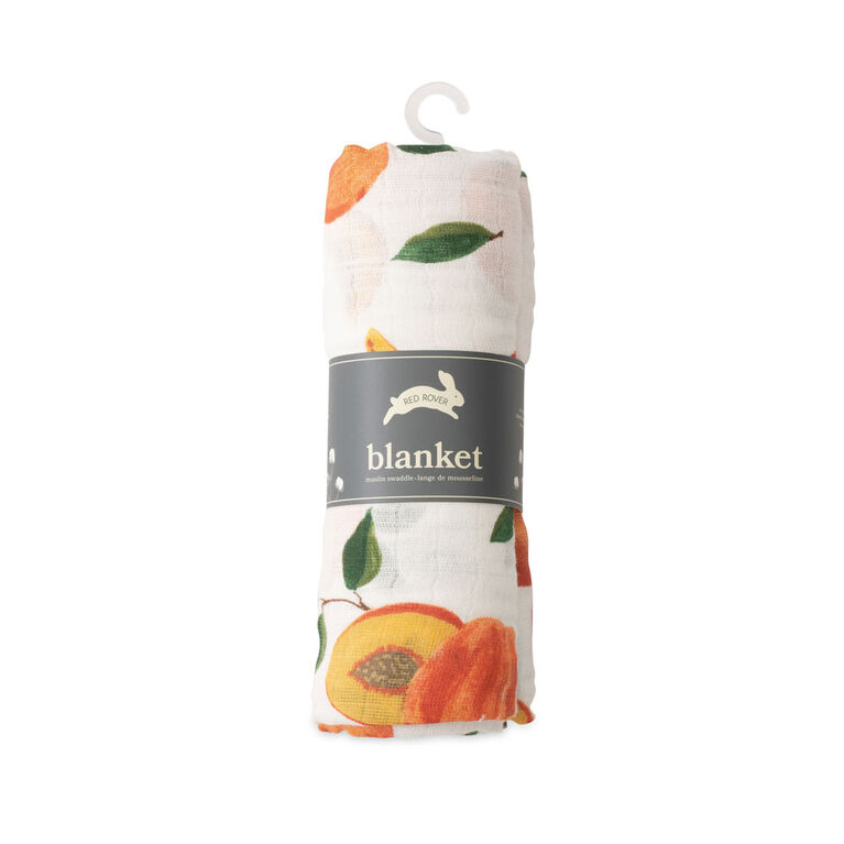 Red Rover - Cotton Muslin Swaddle Single - Peachy - R Exclusive
