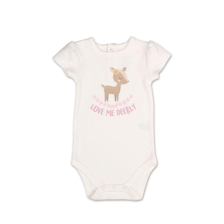 Koala Baby Little Fawn Love Me Deerly Bodysuit/Shorts 2 Piece Set, 24 Month