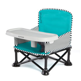 Summer Pop 'n Sit SE Booster/Siège rehausseur Sweet Life Edition - Bleu cyan sucré - Summer Infant.