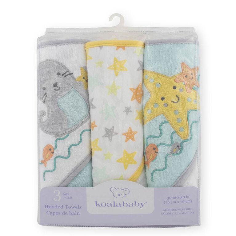 Capes de bains de Koala Baby paquet de 3.