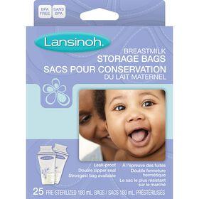 Lansinoh sacs de conservation de lait - 25 unités.