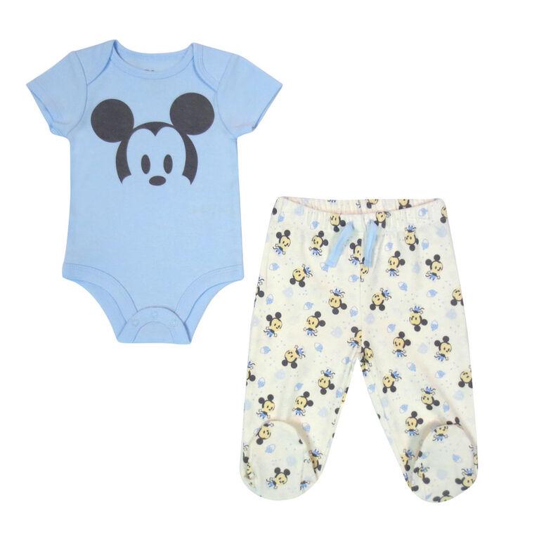 Disney Mickey Mouse 2-Piece Pant Set - Blue, Newborn