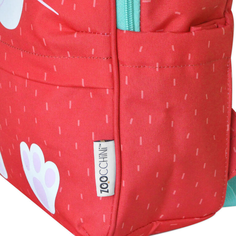 ZOOCCHINI - Toddler, Kids Everyday Square Backpack - Daycare, Nursery, Kindergarten, School Bag - Bella the Bunny