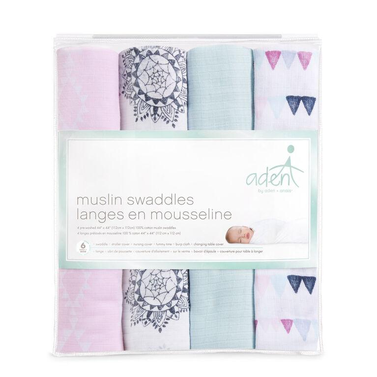 Langes en mousseline aden by aden + anais - pretty pink.