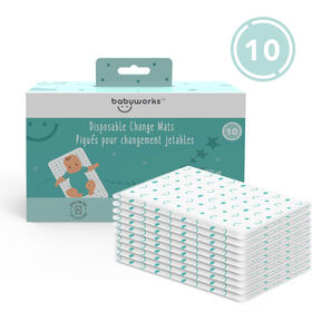 Baby Works Disposable Change Mats - 10pk
