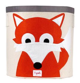 3 Sprouts Storage Bin Fox - Orange
