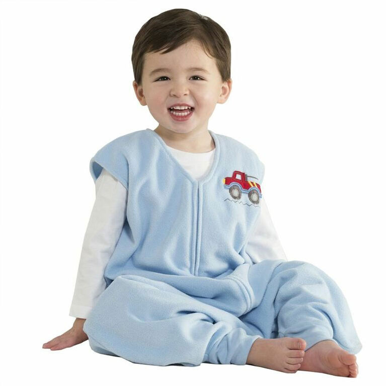 HALO SleepSack Big Kids Micro-Fleece - Blue Truck - 4/5T