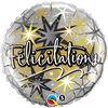 Ballon Métallique 46 Cm Felicitations De Qualatex