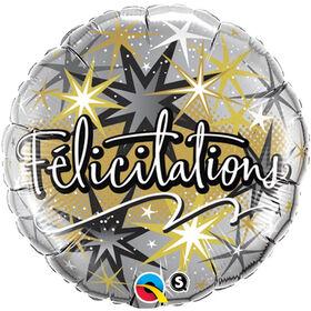 """Qualatex Felicitations 18"""" Foil Balloon"""