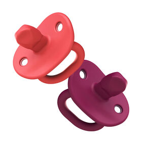 Sucette orthodontic en silicone Boon Jewl étape 2, 2 pk rose