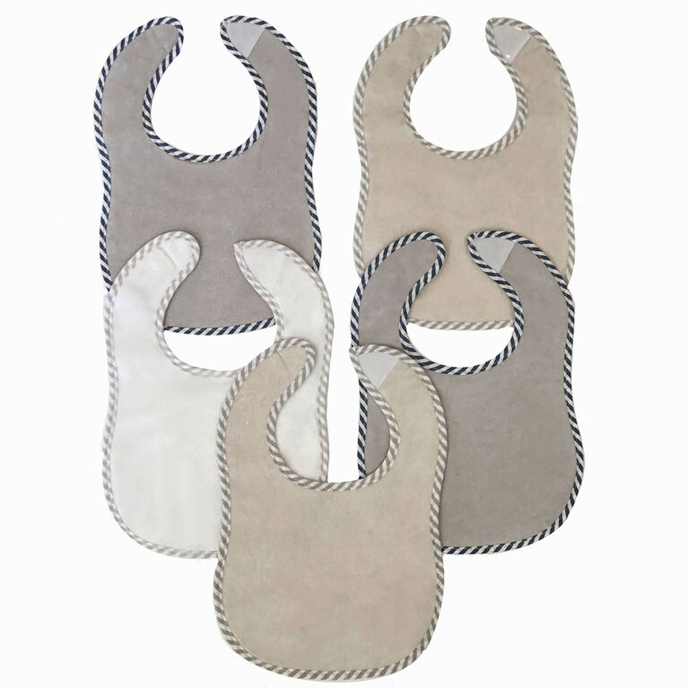 Koala Baby - 5 Pack Grey Microterry - Solid