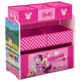 Delta Children - Disney Minnie Mouse 6 Bin Design and Store Toy Organizer