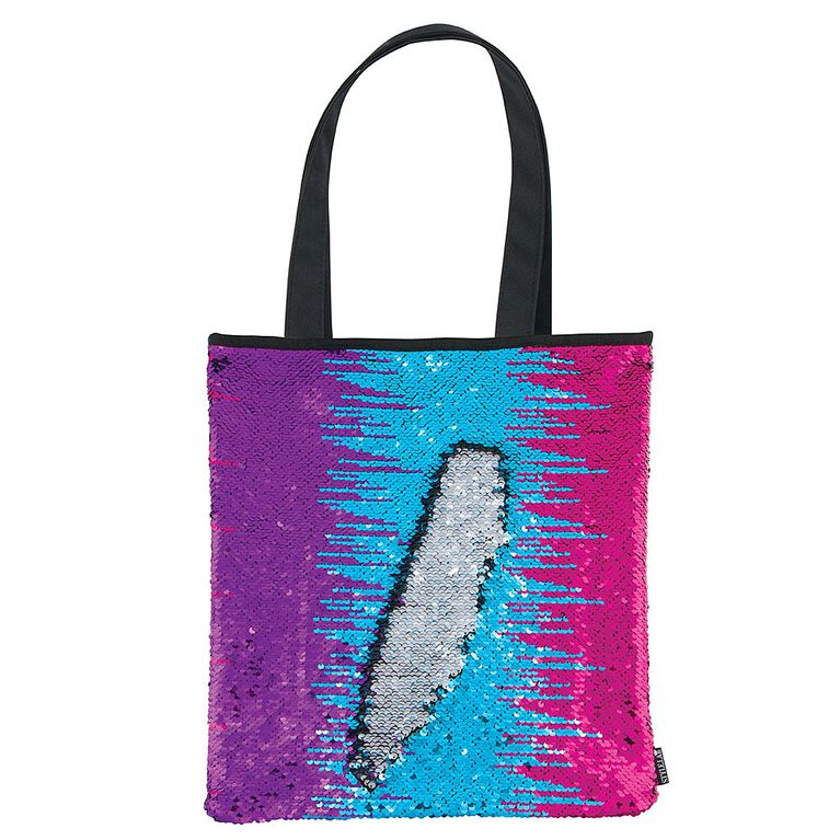 Style Lab Magic Sequin Multi Color/Silver/Black Tote Bag