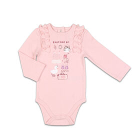 The Peanutshell Baby Girl Layette Mix & Match Ballerina Kit Ruffle Shoulder Bodysuit - Newborn