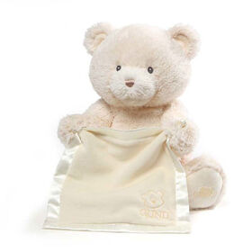 Baby GUND, Ours en peluche animé cache-cache, My 1st Teddy, crème, 29,2cm - Édition anglaise