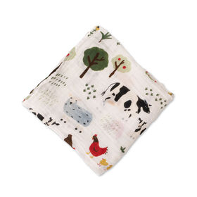 Red Rover - Cotton Muslin Swaddle Single - Family Farm - R Exclusive