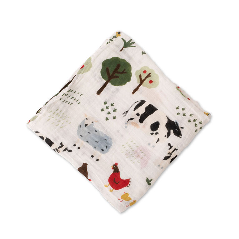 Family Farm Muslin Swaddle Single
