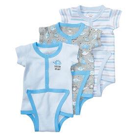 Koala Baby 3-Pack Diaper Shirt, Newborn - Blue