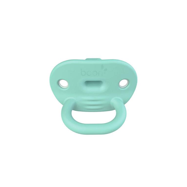 Sucette orthodontic en silicone Boon Jewl étape 1,  2 pk sarcelle