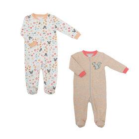 Koala Baby Girls 2 Pack Sleeper - Squirrel Pink, 12 Months