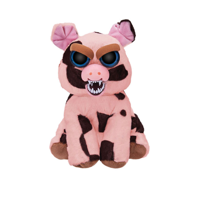 """Feisty Pets 10"""" Plush - Mort the Snort Spotted Pig"""