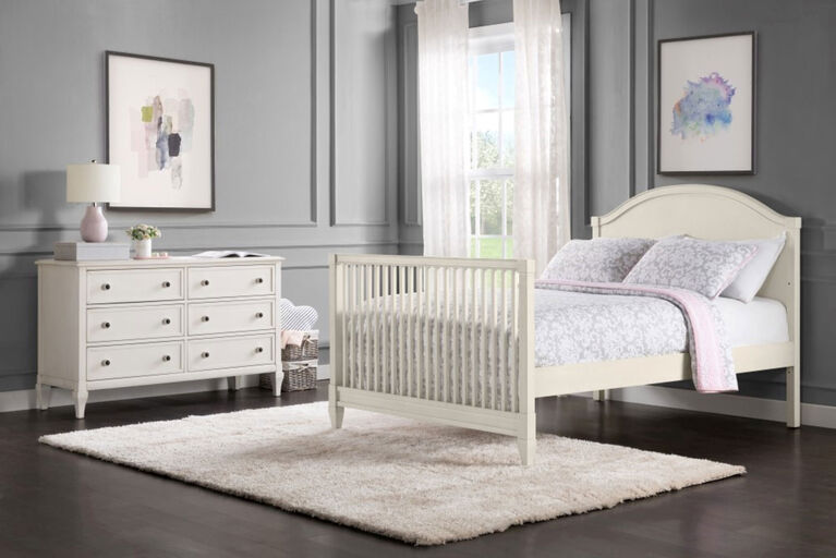 Oxford Baby Elizabeth Full Bed conversion kit Vintage White - R Exclusive