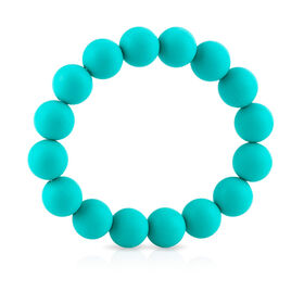 Bracelet de dentition a perles Teething Trends de Nuby-Aqua.