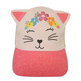 Baby B - Baseball Cap With 3D Ears - Cat, White, 0-12M