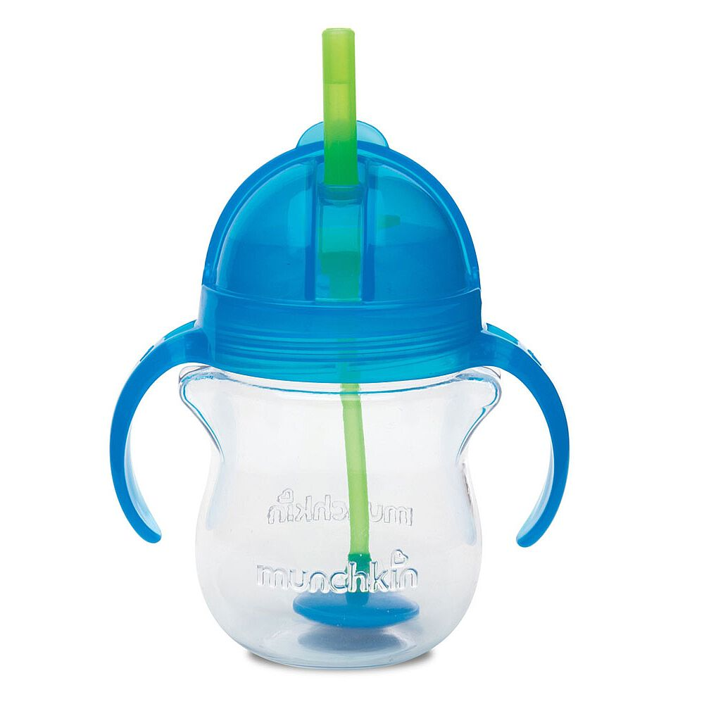 Large 7 oz Munchkin Click Lock Weighted Straw Cup,Assorted Colour