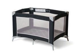 Foundations Essentials Portable Playard - Mod Plaid Graphite