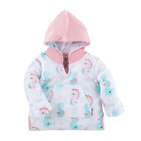 Zoocchini - Baby Swim Coverup - Seahorse - 12-24M