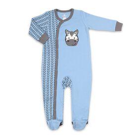 Dormeuse Koala Baby en coton de couleur bleue avec zèbre, 0-3M