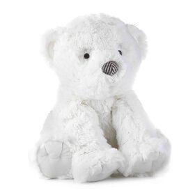 Levtex Baby Bailey White Bear Plush with Herringbone Accents