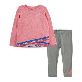 Nike Tunic Legging Set - Pink, 24 Months
