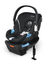 Cybex Aton 2 Infant Car Seat with SensorSafe, Lavastone Black