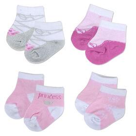 Chaussettes de Baby Essential fille princesse 4 paires 6-9M