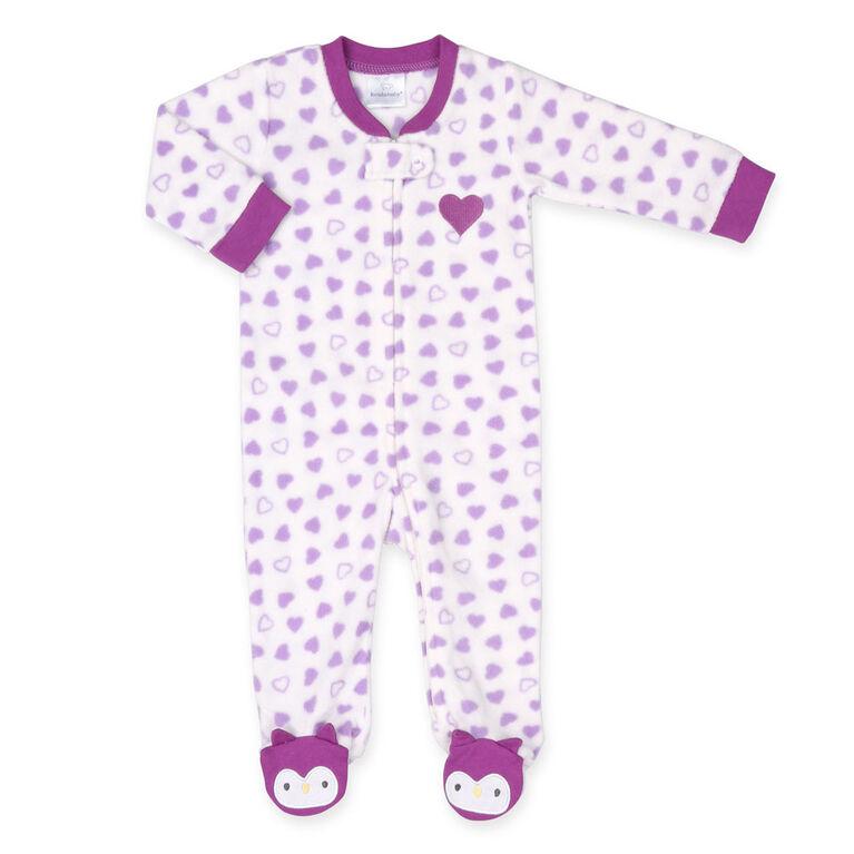 """Dormeuse en polaire """" Owl Footie """" de Koala Baby - taille 12-18 mois"""