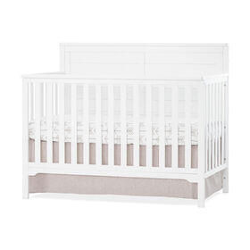 Forever Eclectic by Child Craft Wilmington Flat Top 4-in-1 Convertible Crib, Matte White