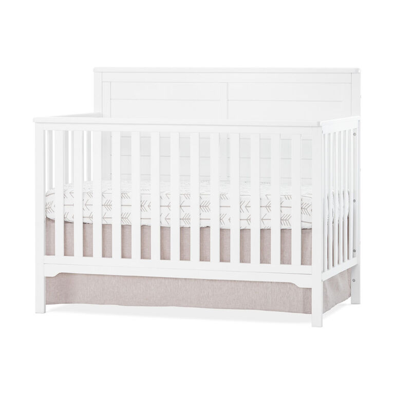 Wilmington Flat Top 4 In 1 Convertible Crib Matte White