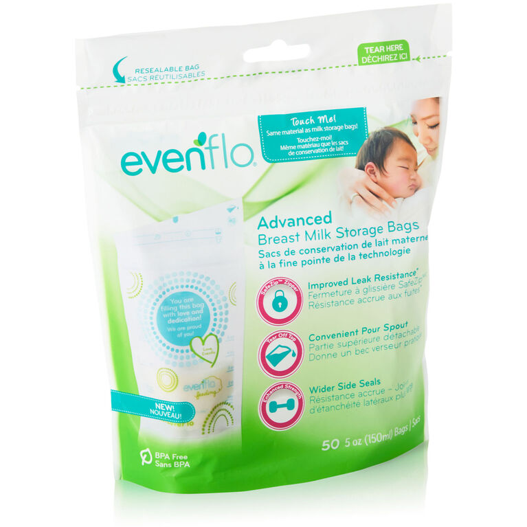 Evenflo Advanced Breast Milk Storage Bags, 50 count