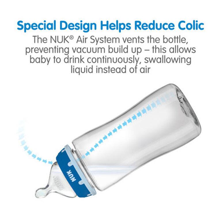 NUK Bottles Perfect Fit Medium Flow Replacement Nipples, 2 pack