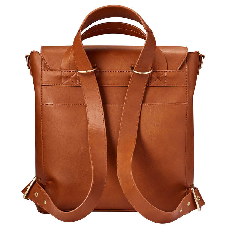 JJ Cole Brookmont Backpack Baby Diaper Bag - Cognac