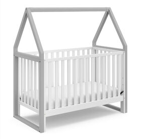 Storkcraft Orchard 5-in-1 Convertible Crib - White/Pebble Grey.