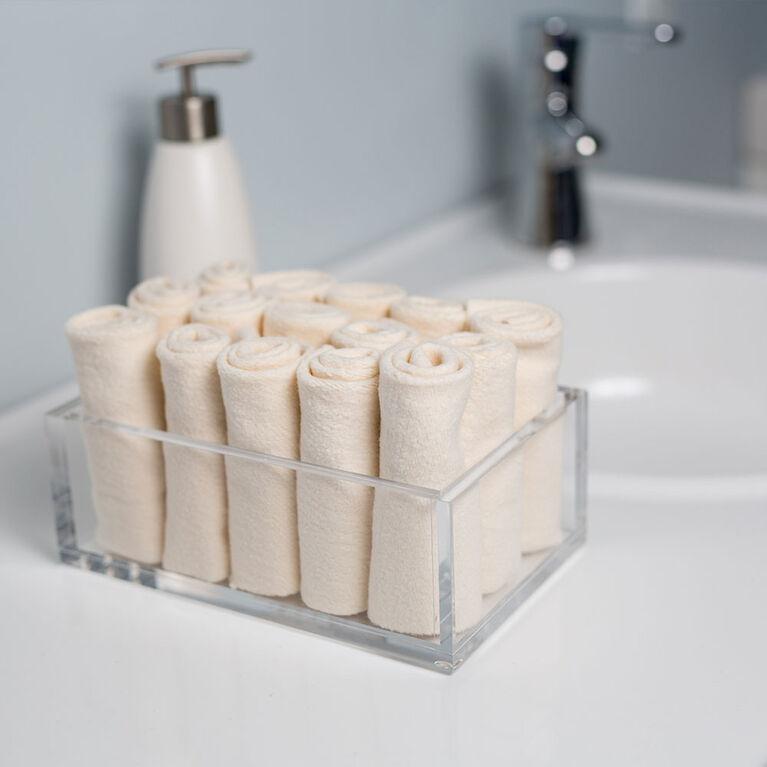 Lulujo 4pk biologique gant de toilette en coton