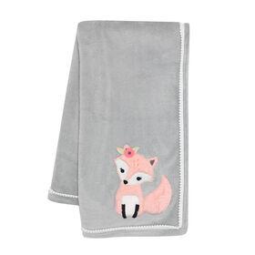Lambs & Ivy - Friendship Tree Baby Blanket - Gray