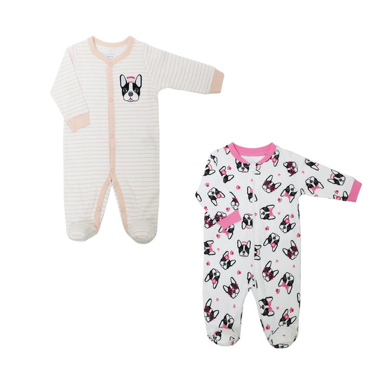 Koala Baby Girls 2 Pack Sleeper - Dog Princess, 6 Months