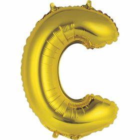 """Ballons en forme de lettre or 14 """" - C"""